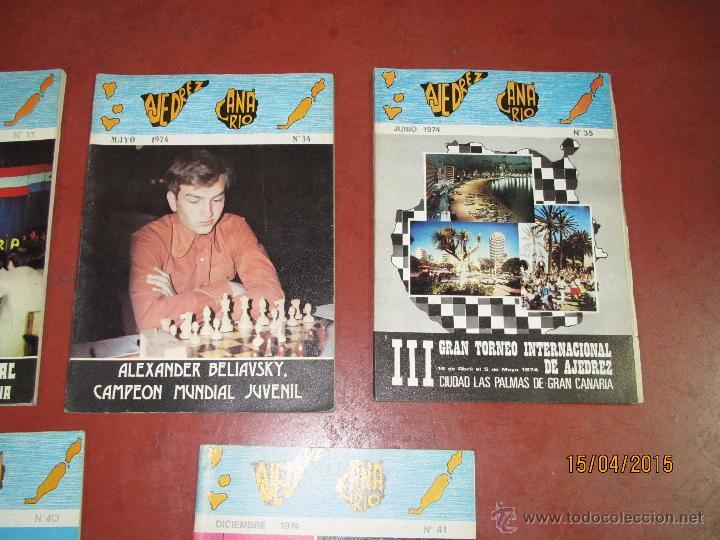 Coleccionismo deportivo: Antiguas Revistas Año 1974 Completo de ** AJEDREZ CANARIO ** del Nº 30 al Nº 41 - Foto 4 - 48893711