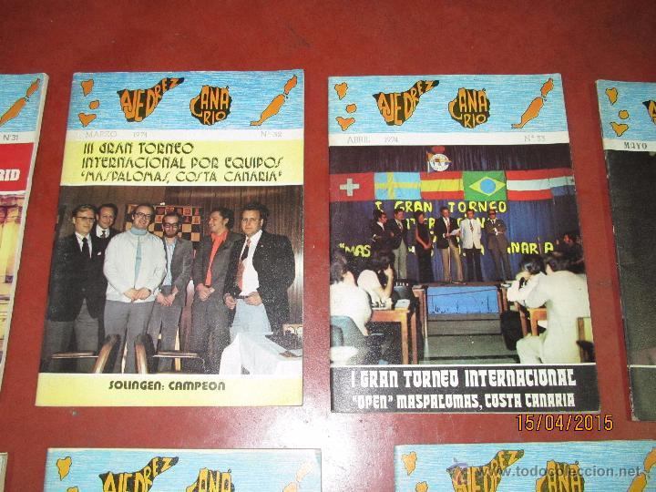 Coleccionismo deportivo: Antiguas Revistas Año 1974 Completo de ** AJEDREZ CANARIO ** del Nº 30 al Nº 41 - Foto 5 - 48893711
