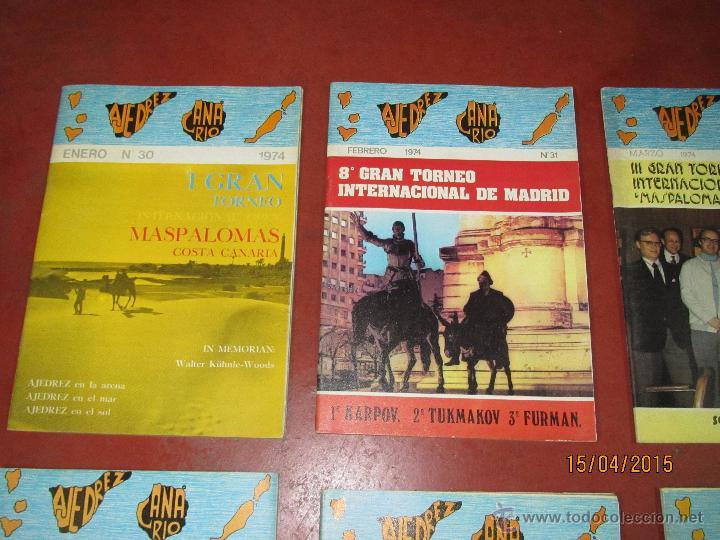 Coleccionismo deportivo: Antiguas Revistas Año 1974 Completo de ** AJEDREZ CANARIO ** del Nº 30 al Nº 41 - Foto 6 - 48893711