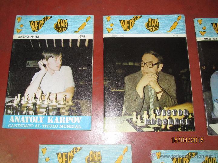 Coleccionismo deportivo: Antiguas Revistas Año 1975 Completo de ** AJEDREZ CANARIO ** del Nº 42 al Nº 53 - Foto 2 - 48893780
