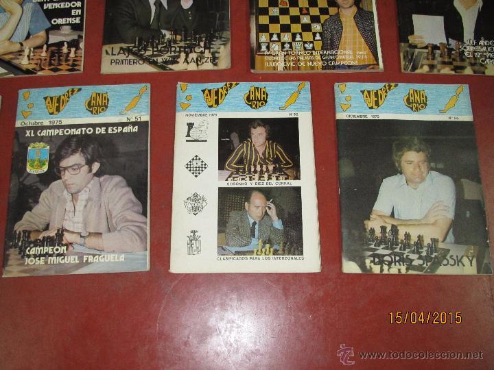 Coleccionismo deportivo: Antiguas Revistas Año 1975 Completo de ** AJEDREZ CANARIO ** del Nº 42 al Nº 53 - Foto 3 - 48893780