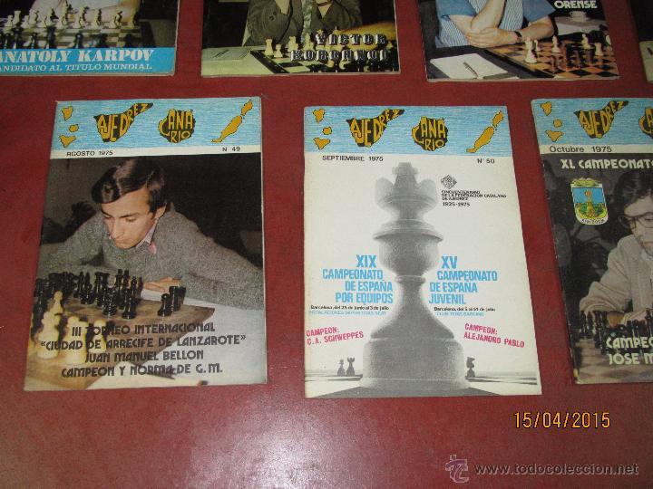 Coleccionismo deportivo: Antiguas Revistas Año 1975 Completo de ** AJEDREZ CANARIO ** del Nº 42 al Nº 53 - Foto 4 - 48893780