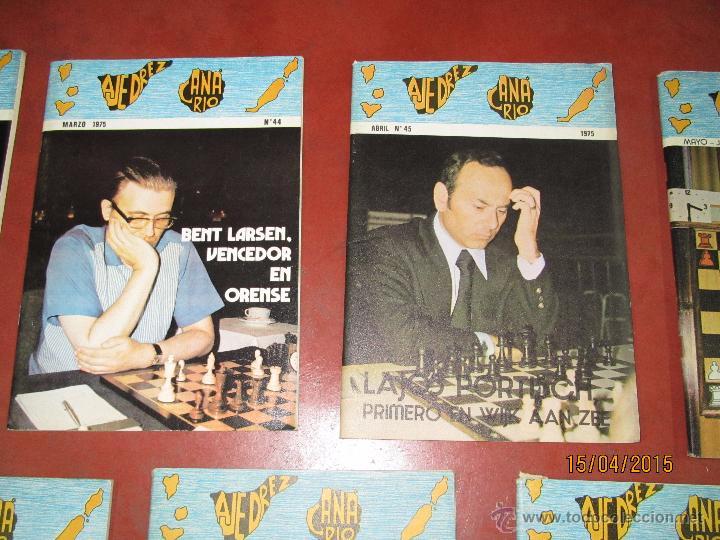 Coleccionismo deportivo: Antiguas Revistas Año 1975 Completo de ** AJEDREZ CANARIO ** del Nº 42 al Nº 53 - Foto 5 - 48893780