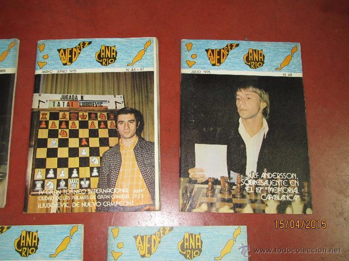 Coleccionismo deportivo: Antiguas Revistas Año 1975 Completo de ** AJEDREZ CANARIO ** del Nº 42 al Nº 53 - Foto 6 - 48893780
