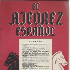 Coleccionismo deportivo: EL AJEDREZ ESPAÑOL Nº 33-34 MAYO JUNIO 1958, FEDA, TRIUNFO DE ESPAÑA EN EL TORNEO CLARE BENEDICT. Lote 49022373