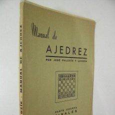 Coleccionismo deportivo: MANUAL DE AJEDREZ Nº 4 FINALES ,JOSE PALUZIE,, IMPRENTA ELZEVIRIANA ED,REF AJEDREZ AZT1. Lote 49240276