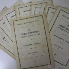 Coleccionismo deportivo: XX TORNEO INTERNACIONAL AJEDREZ,MAR DE PLATA 1957,17 BOLETINES,FEDERACION ARGENTINA,REF ÑÑ10. Lote 49352991