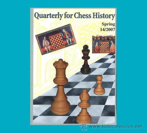 AJEDREZ QUARTERLY FOR CHESS HISTORY 14/2007 FIALA CHESS ECHECS SCHACH (Coleccionismo Deportivo - Libros de Ajedrez)