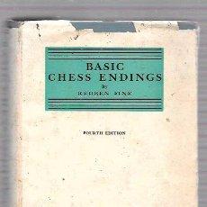 Coleccionismo deportivo: BASIC CHESS ENDINGS. BY REUBEN FINE. DAVID MCKAY COMPANY, INC. NEW YORK.1941. Lote 49874255