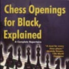 Coleccionismo deportivo: AJEDREZ. CHESS OPENINGS FOR BLACK, EXPLAINED - LEV ALBURT/ROMAN DZINDZICHASHVILI/EUGENE PERELSHTEY. Lote 49986383