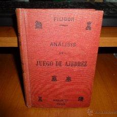 Coleccionismo deportivo: ANALISIS DEL JUEGO DEL AJEDREZ, CON UN TRATADO DE ESTRATAGEMAS, POR FILIDOR, LIBRERIA VDA. DE BOURET. Lote 50657985