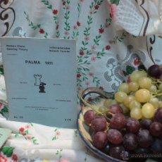 Coleccionismo deportivo: AJEDREZ. CHESS. PALMA 1971 DESCATALOGADO!!!. Lote 50667563
