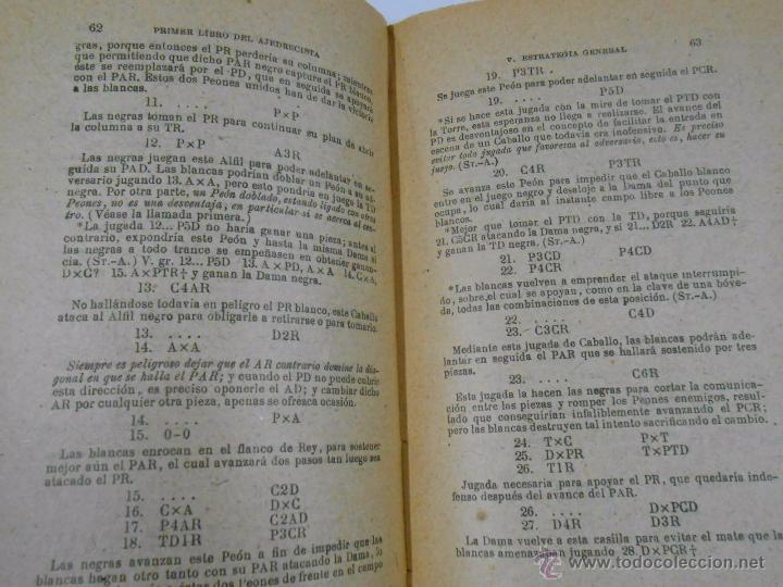 Coleccionismo deportivo: PRIMER LIBRO DEL AJEDRECISTA. JOSÉ PALUZIE Y LUCENA. 1938. 8ª EDICIÓN. TDK249 - Foto 2 - 50739919