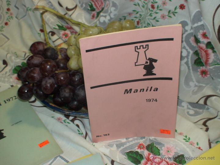 AJEDREZ. CHESS. MANILA 1974 DESCATALOGADO!!! (Coleccionismo Deportivo - Libros de Ajedrez)