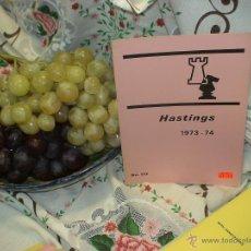 Coleccionismo deportivo: AJEDREZ. CHESS. HASTINGS 1973-74 DESCAT6ALOGADO!!!. Lote 50798555