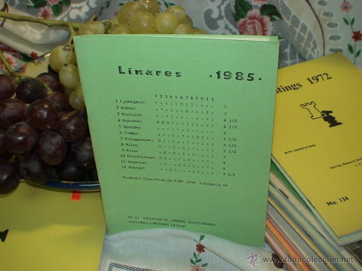AJEDREZ. CHESS. LINARES 1985 DESCATALOGADO!!! (Coleccionismo Deportivo - Libros de Ajedrez)