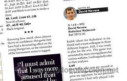 Coleccionismo deportivo: Ajedrez. Revista. Magazine New in Chess 2015/6 - Foto 7 - 51224122