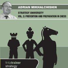 Coleccionismo deportivo: AJEDREZ. CHESS. STRATEGY UNIVERSITY VOL. 2 - ADRIAN MIKHALCHISHIN DVD. Lote 51519726