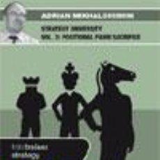 Coleccionismo deportivo: AJEDREZ. CHESS. STRATEGY UNIVERSITY VOL. 3 - ADRIAN MIKHALCHISHIN DVD. Lote 51521363
