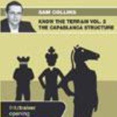Coleccionismo deportivo: AJEDREZ. CHESS. KNOW THE TERRAIN. VOL. 2 THE CAPABLANCA STRUCTURE - SAM COLLINS DVD. Lote 51553598