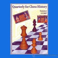 Coleccionismo deportivo: AJEDREZ FIALA: QUARTERLY FOR CHESS HISTORY 15/2007 CHESS ECHECS SCHACH. Lote 52761746