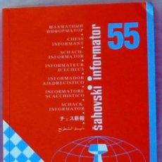 Coleccionismo deportivo: INFORMADOR AJEDRECISTICO - SAHOVSKI INFORMATOR Nº 55 - 1992 - VER INDICE Y DESCRIPCIÓN. Lote 52923788