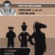Coleccionismo deportivo: AJEDREZ. CHESS. ENGLISH 1.C4 E5 FOR BLACK - VICTOR BOLOGAN DVD. Lote 53405926
