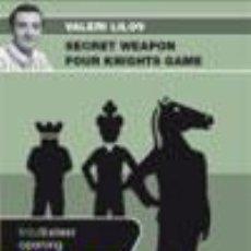 Coleccionismo deportivo: AJEDREZ. CHESS. FOUR KNIGHTS GAME - VALERI LILOV DVD. Lote 53440030