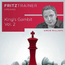 Coleccionismo deportivo: AJEDREZ. CHESS. KING'S GAMBIT VOL. 2 - SIMON WILLIAMS DVD-ROM. Lote 53519356