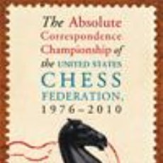 Coleccionismo deportivo: AJEDREZ. CHESS. THE ABSOLUTE CORRESPONDENCE CHAMPIONSHIP OF THE USCF 1976-2010 - ALEX DUNNE. Lote 53644900