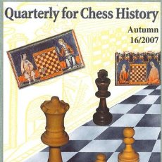 Coleccionismo deportivo: AJEDREZ. QUARTERLY FOR CHESS HISTORY 16. AUTUMN 2007 - VLASTIMIL FIALA (CARTONÉ). Lote 54131753