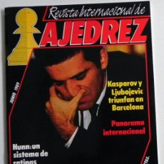 Coleccionismo deportivo: REVISTA INTERNACIONAL DE AJEDREZ 21 JUNIO 1989 - GARRY KASPAROV LJUBOJEVIC - DEPORTE JUEGO -NO LIBRO. Lote 54406911