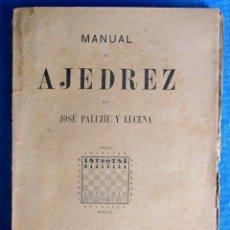 Coleccionismo deportivo: MANUAL DE AJEDREZ POR JOSÉ PALUZÍE Y LUCENA. PARTE QUINTA, PROBLEMAS. HIJOS DE PALUZÍE EDITORES 1912. Lote 54510381