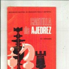 Coleccionismo deportivo: CARTILLA DE AJEDREZ. ROMÁN TORÁN. Lote 54614417