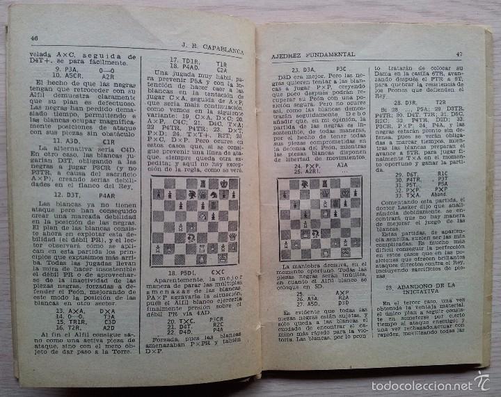 Coleccionismo deportivo: AJEDREZ FUNDAMENTAL - JOSE RAUL CAPABLANCA - EDITA RICARDO AGUILERA 1957 - Foto 3 - 55396643