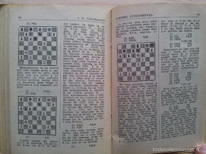 Coleccionismo deportivo: AJEDREZ FUNDAMENTAL - JOSE RAUL CAPABLANCA - EDITA RICARDO AGUILERA 1957 - Foto 4 - 55396643