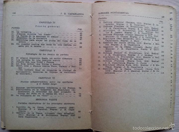 Coleccionismo deportivo: AJEDREZ FUNDAMENTAL - JOSE RAUL CAPABLANCA - EDITA RICARDO AGUILERA 1957 - Foto 6 - 55396643