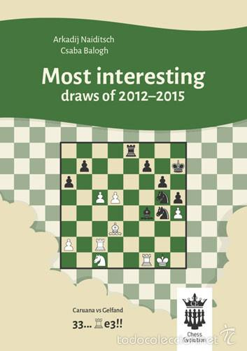 AJEDREZ. CHESS. MOST INTERESTING DRAWS OF 2012-2015 - ARKADIJ NAIDITSCH/CSABA BALOGH (Coleccionismo Deportivo - Libros de Ajedrez)