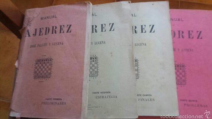 MANUAL DE AJEDREZ POR JOSÉ PALUZÍE Y LUCENA - 1937, IMPRENTA ELZEVIRIANA, TOMO TERCERO (Coleccionismo Deportivo - Libros de Ajedrez)
