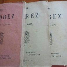 Coleccionismo deportivo: MANUAL DE AJEDREZ POR JOSÉ PALUZÍE Y LUCENA - 1937, IMPRENTA ELZEVIRIANA, TOMO TERCERO. Lote 52698808