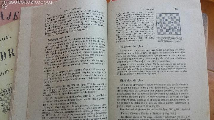 Coleccionismo deportivo: MANUAL DE AJEDREZ POR JOSÉ PALUZÍE Y LUCENA - 1937, IMPRENTA ELZEVIRIANA, TOMO TERCERO - Foto 3 - 52698808