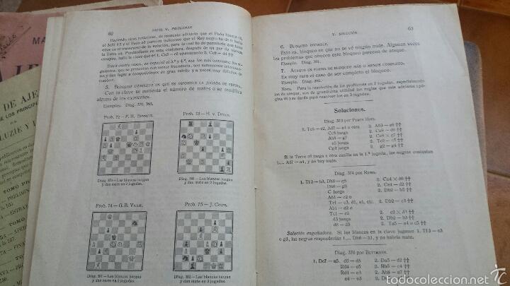 Coleccionismo deportivo: MANUAL DE AJEDREZ POR JOSÉ PALUZÍE Y LUCENA - 1937, IMPRENTA ELZEVIRIANA, TOMO TERCERO - Foto 4 - 52698808