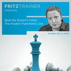 Coleccionismo deportivo: AJEDREZ. CHESS. BEAT THE QUEEN'S INDIAN. THE MODERN FIANCHETTO LINE - SIMON WILLIAMS DVD-ROM. Lote 56166230