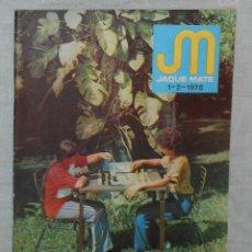 Coleccionismo deportivo: AJEDREZ REVISTA JAQUE MATE 1975 01-02 (ENERO-FEBRERO) CHESS SCHACH. Lote 56498000