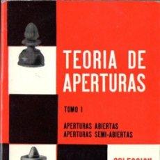 Coleccionismo deportivo: TEORÍA DE APERTURAS TOMO I - ABIERTAS Y SEMIABIERTAS (ESCAQUES, 1980) . Lote 57032863