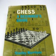 Coleccionismo deportivo: AÑO 1968 LIBRO AJEDREZ CHESS - STANLEY MORRISON. Lote 57839135