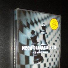 Coleccionismo deportivo: PARTIDAS AJEDREZ DVD / MEGA DATABASE 2010 / 4.5 MILLION GAMES / CHESSBASE. Lote 57971514