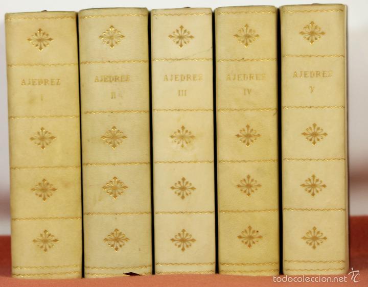 7791 - LOTE DE 10 LIBROS DE AJEDREZ EN 5 TOMOS(VER DESCRIP). VV. AA. EDI. BRUGUERA. 1961. (Coleccionismo Deportivo - Libros de Ajedrez)
