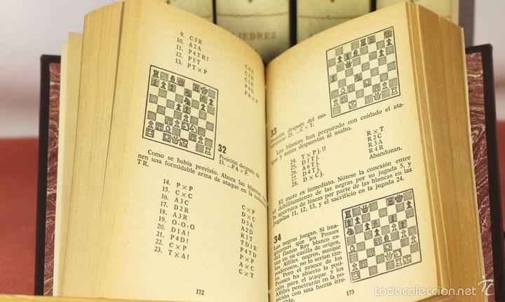 Coleccionismo deportivo: 7791 - LOTE DE 10 LIBROS DE AJEDREZ EN 5 TOMOS(VER DESCRIP). VV. AA. EDI. BRUGUERA. 1961. - Foto 4 - 58060933