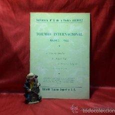 Coleccionismo deportivo: TORNEO INTERNACIONAL MOSCU 1963. SUPLEMENTO Nº 8 DE LA REVISTA AJEDREZ DESCATALOGADO!!!. Lote 58294843